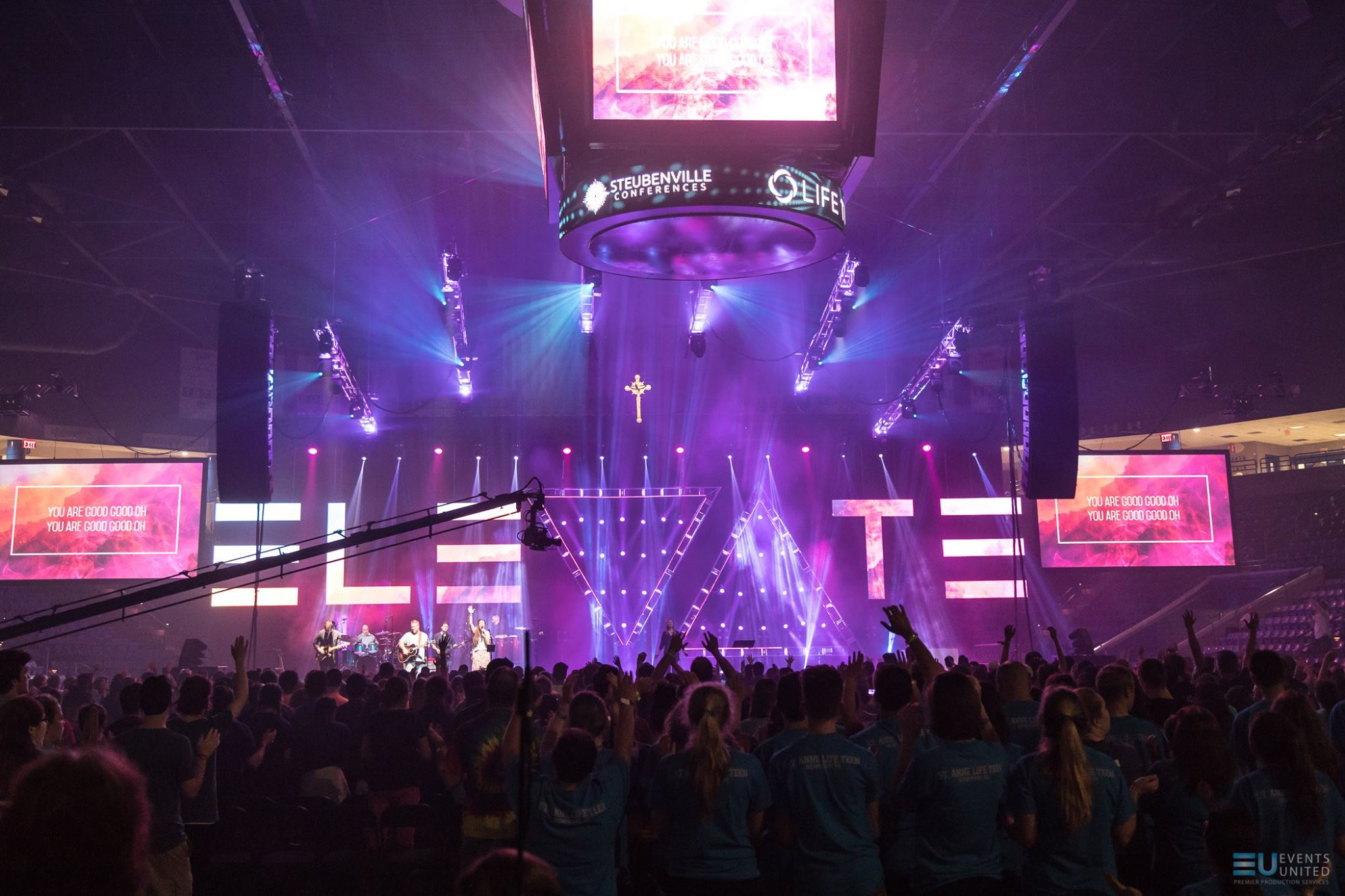 Events United Creates 80' Video Wall Logo For Steubenville