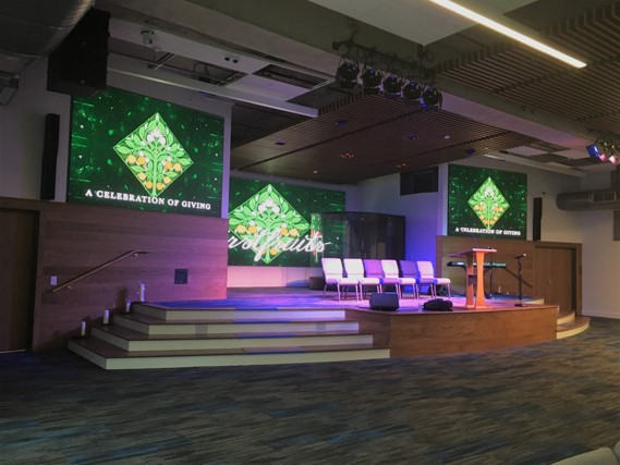 San Antonio Sound And Light Creates Contemporary Worship Space With CHAUVET Professional F4 Panels
